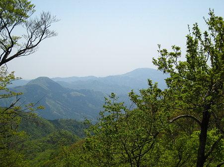 山頂近くからの眺望