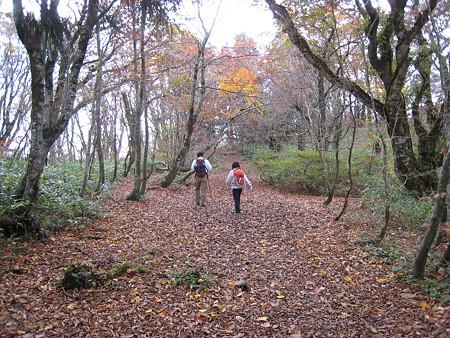 比婆山御陵付近を歩くミノさんとサクラギさん