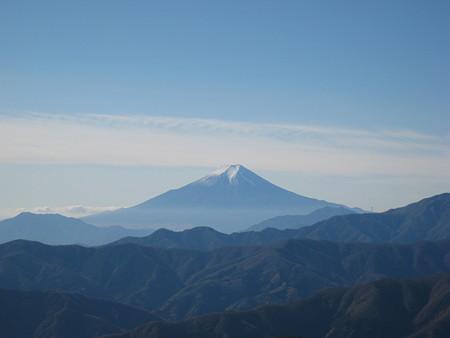 鷹ノ巣山山頂から望む富士山