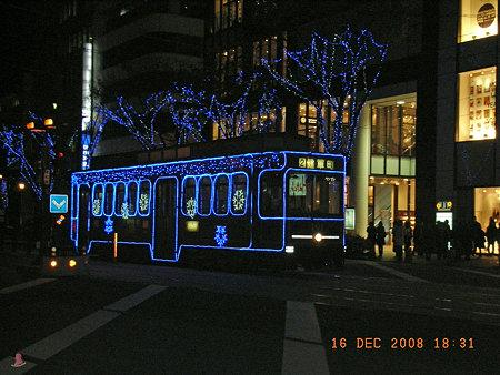 クリスマスの市電